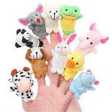 Granja Zoo Animal Finger Puppets Relleno de juguetes de peluche Hora de acostarse Story Fairy Tale Fable Boys Girls Party to
