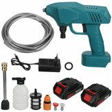 1200W 88VF Tragbare Akku-Autowaschanlage Hochdruck-Auto-Haushaltswaschmaschine Reiniger Pistolen Pumpen Werkzeug Fit Makita