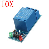 10 stks 5V Low Level Trigger One 1-kanaals relaismodule-interfacekaart Schild DC AC 220 V Geekcreit voor Arduino - producten die werken met officiële Arduino-boards