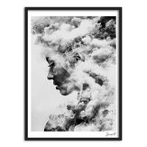 Modern Girl Portrait Smoky Brezentowy Art Poster Painting Wall Picture Home Decorations