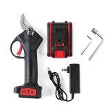 21V sans fil 25mm ciseaux électriques rechargeables branche élagage cisaille outils de coupe d'arbre avec 1 Batterie