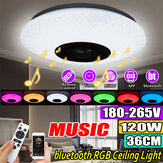 120W RGB Music Colored LED Plafonnier Dimmable Lamp bluetooth + APP Control