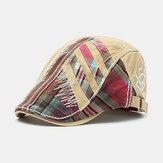 Boné de boina de algodão Camo Newsboy Gorras Viseiras Sol Chapéu