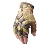 Anti-Rutsch-Sicherheit Militärarmee Halbfinger Taktische Handschuhe Motorrad Motocross Fahrradfahren Radfahren Sport Wandern Schießen Schutzhandschuhe