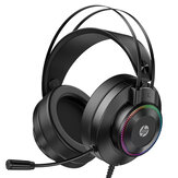HP GH10/GH10GS Gaming Headset 50mm Unit 360° Stereo Effect LED Colorful Light Flexible Microphone for PS3/4 PC
