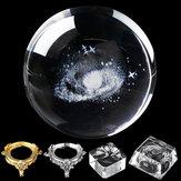 Diamètre de 8cm Globe Galaxy Miniatures Cristaux Boule 3D Gravé au Ballon de Quartz