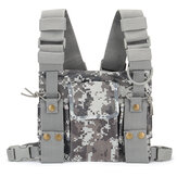 Radio Walkie Talkie Chest Pocket Harness Bag Backpack Holster Pouch Camouflage
