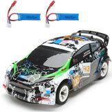 Wltoys K989 2 Bateria 1/28 2.4G 4WD Carro RC escovado Liga Chassis Veículos Modelo RTR