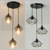 Lâmpada de suspensão industrial do vintage do metal do teto Pingente para a barra da cozinha sem bulbo