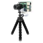 Caturda C2702 Tranparent Protective Caso + Suporte de Suporte Módulo de Câmera IMX477R para Raspberry Pi