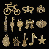 100Pcs Antique Bronze Pendant Decorations Multi-Styling Metal Animal Plant Ornaments