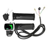 24V/36V/48V LCD Twist Throttle Battery Indicator Power ON OFF For Scooter Electric Bike