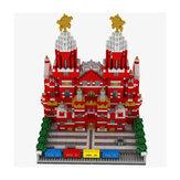 WLtoys YZ067 2384pcs Moscow Red Square Puzzle Blocos de Construção Montados Brinquedos de Interior