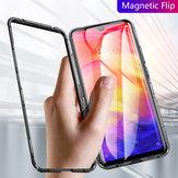 Bakeey Magnetic Flip Metallrahmen Hartglas Full Cover Schutzhülle für Xiaomi Redmi 7/Redmi Y3