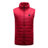 Red Unisex USB Heating Vest Smart Winter Body Warmer Outdoor Racing Jacket Heater Xmas Gift