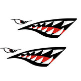 2pcs Shark Teeth Mouth Decal Stickers For Kayak Canoe Dinghy Boat Car Decoration Waterproof