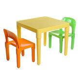 Childrens Plastic Table and Chair Set Square Learning Desk for Home Learning Desk Writing Homework Chair Combination