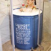 70cm Folding Bathtub Portable Bath Bucket Barrel Adult Tub Baby Swimming Pool Bathroom SPA Home