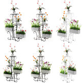 Multi-layer Flower Stand Ground Plastic Flower Pot Shelf Simple Balcony Floor Hanging Orchid Stand