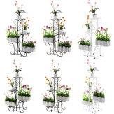 Soporte de flores de múltiples capas Suelo Estante de maceta de plástico Simple Balcón Soporte de orquídea colgante en el piso