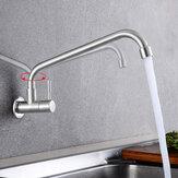 Rubinetto per lavello da cucina in acciaio inossidabile 304 con rubinetto a freddo a rotazione 360 °