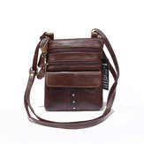 Men Genuine Leather Multi-pocket Crossbody Bag Vintage Bag