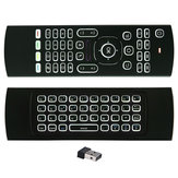 MX3 sem fio QWERTY branco Backlit 2.4GHz teclado mouse Air com microfone para TV Box MINI PC