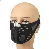 Unisex-Carbon-Anti-Staubmaske Außenreiten Half Face Mouth Filter Protection