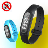 Bakeey Q2 Outdoor Ultrasonic Natural Mosquito Repellent Anti-Mosquito Insect Waterproof Long Standby Smart Bracelet