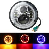 7inch em volta de olá! / Faróis da lâmpada de sinal do anel DRL do halo LED do feixe de Lo para Harley / jipe