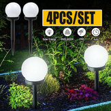 4PCS LED Solar Ball Lamp Garden Outdoor Patio Lawn Yard Light with Ground Spike