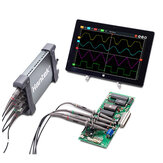 Hantek 6204BC Digital Oscilloscopes 200MHZ 1GSa/s 4CH Windows10 / 8 / 7 With USB Interface Probe Handheld