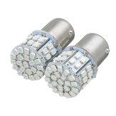 2 Adet 1156 BA15S P21W 50-SMD LED Ampul Arka Lambası Fren Dönüş Sinyali Işık Kırmızı Renk