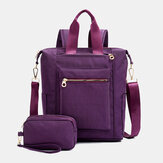 Large Capacity Waterproof Handbag Shoulder Bag Backpack With Clutches Bag For Women