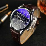 YAZOLE 271 Men Watch Fashion Style Læder Strap Quartz Wrist Watch