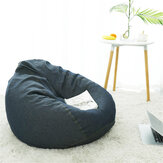 Denim Bean Bag Cover without Filler Lounger Sofa Cover Lazy Seat Protector Home Office Furniture Decorations