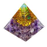 Himalaya Pierre Décorations Orgone Pyramid Générateur D'énergie Tour Accueil Reiki Guérison Cristal