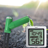 Écran de moniteur d'humidité du sol sans fil affiché récepteur de capteur de testeur d'humidité d'usine 433 Mhz avec affichage de l'heure