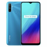 Realme C3 Global Version 6,5 tommer 5000mAh Android 10 12MP AI tredobbelt kamera 3-korts slot 3 GB 64GB Helio G70 4G Smartphone
