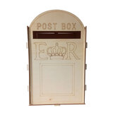 Wooden Wedding Mr Mrs Post Box Royal Mail Style For Cards Letters Gifts Message Decor Supplies