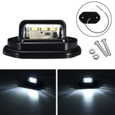 12V LED License Plate Luzes Interior Step Lamp Para Captadores De Reboque Do Caminhão Do Carro RV