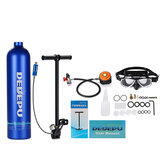 DIDEEP 1L Portable Mini Oxygen Cylinder Air Oxygen Tank Breath Diving Underwater Oxygen Cylinder