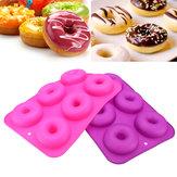 2 unids Donut Bagel Silicona molde de pastel de pastel de queso para hornear molde antiadherente