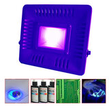 AC110V / 220V 50W 395nm UVプラスチック印刷マネー検出器用硬化LEDフラッドライト防水ランプ
