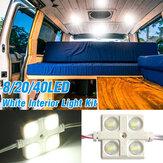 DC12V 8/20 / 40LED Kit de luz de carga trasera interior para LWB Transit Van Truck Offroad