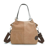 Vrouwen casual canvas multi-carry handtas schoudertas