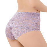 High Waist Hollow Lace Panties
