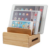 Bamboo Multi-Device Telefonhalter Ladestation Stand Holder Tablet Stand für Smartphone Tablet