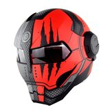 SOMAN Iron Man Helmet Flip Up Motorcycle Helmet Robot Style Motor Bike Casco Monster Casque DOT Approval