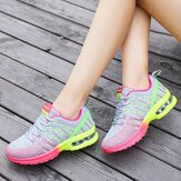 AU Femmes Casual Respirant Mesh Chaussures Sport Course À Lacets Air Cushion Trainer Sneakers